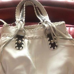 B. Makowsky Leather White Bag